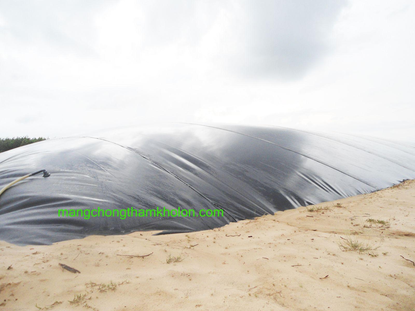màng chống thấm hdpe dự án lót hầm biogas